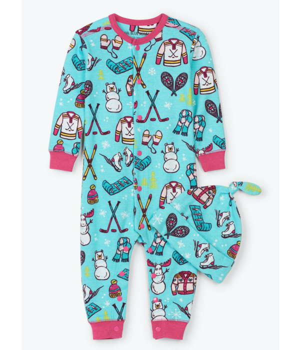 LITTLE BLUE HOUSE INFANT GIRLS WINTER TRADITIONS COVERALL - SIZE 12-18 MONTHS ONLY