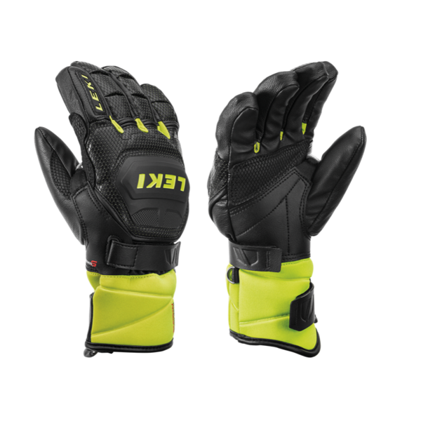 WC RACE FLEX JR GLOVE - BLACK/LEMON