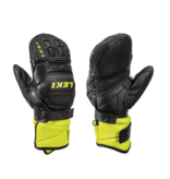 LEKI SKI POLES WC RACE FLEX JR MITT - BLACK/LEMON