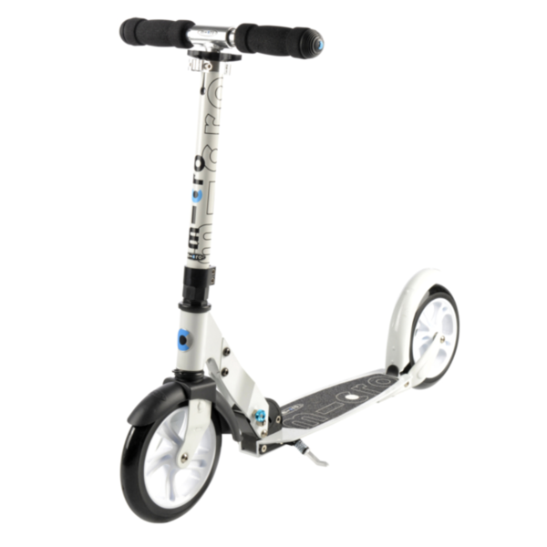WHITE MICRO TEEN/ADULT SCOOTER - 13YR+ & UP TO 200LBS