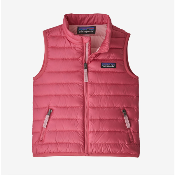 INFANT DOWN SWEATER VEST - RANGE PINK - SIZE 6-12 MONTHS ONLY