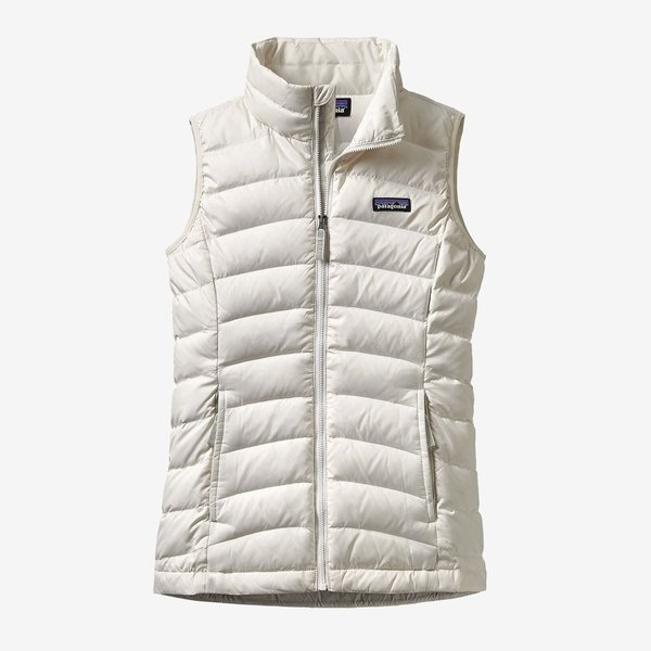 JUNIOR GIRLS DOWN VEST - BIRCH WHITE