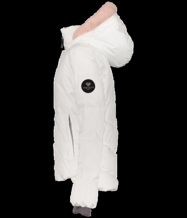 OBERMEYER JUNIOR GIRLS MEGHAN SKI JACKET - WHITE