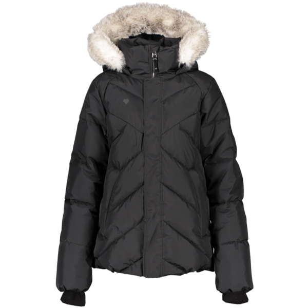 JUNIOR GIRLS MEGHAN SKI JACKET - BLACK