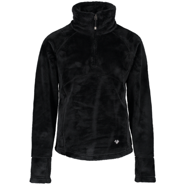 JUNIOR GIRLS SECOND LAYER FURRY FLEECE - BLACK