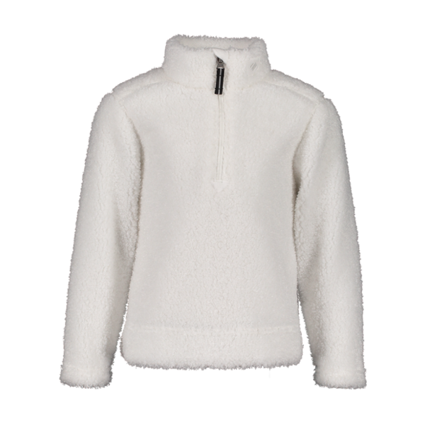 PRESCHOOL GIRLS SECOND LAYER SUPERIOR GEAR ZIP TOP - WHITE