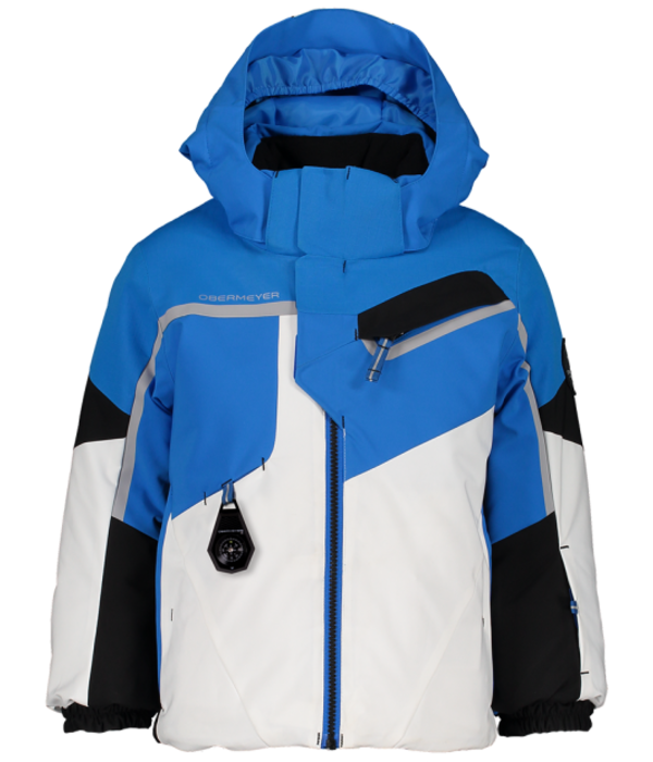 OBERMEYER PRESCHOOL BOYS FORMATION. SKI JACKET - BLUE VIBES