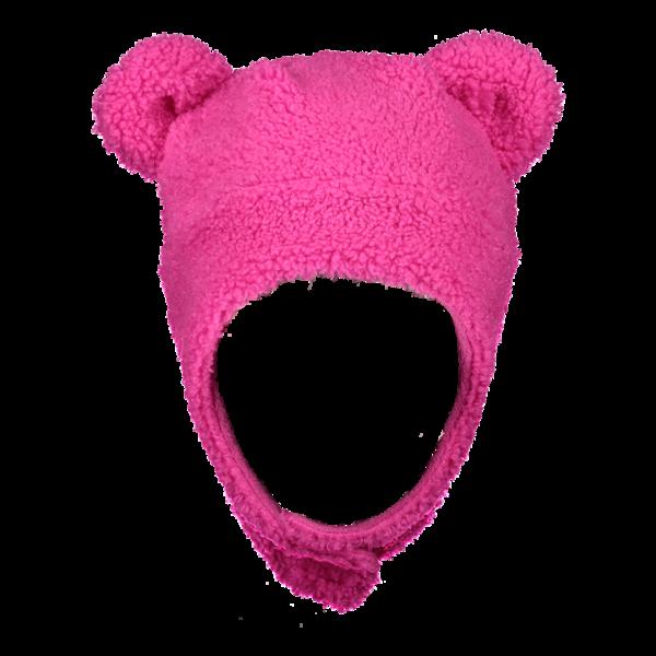 PRESCHOOL GIRLS TED FUR HAT - PINK POWER