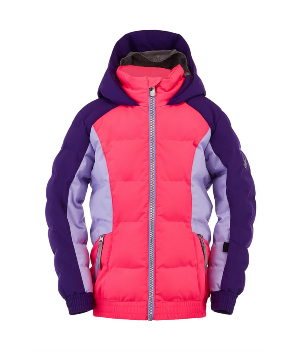SPYDER BITSY GIRLS ATLAS SKI JACKET - BUBBLEGUM MAJESTY