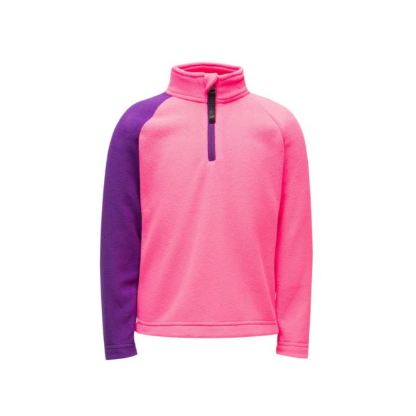 BITSY GIRL SECOND LAYER SPEED FLEECE SKI T-NECK - BRYTE BUBBLEGUM