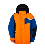 SPYDER MINI BOYS CHALLENGER SKI JACKET - ORANGE/BLUE