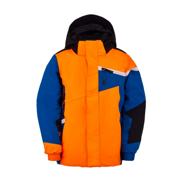 MINI BOYS CHALLENGER SKI JACKET - ORANGE/BLUE