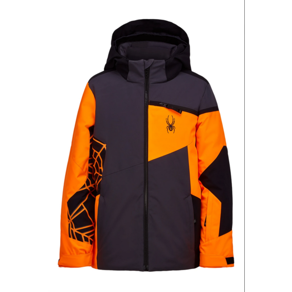 JUNIOR BOYS CHALLENGER SKI JACKET - EBONY