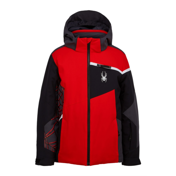 JUNIOR BOYS CHALLENGER SKI JACKET - VOLCANO/BLACK