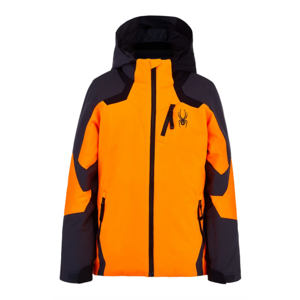 JUNIOR BOYS LEADER SKI JACKET - ORANGE/EBONY