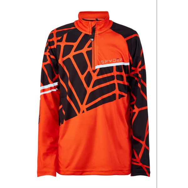 JUNIOR BOYS LIMITLESS HIDEOUT T-NECK SKI TOP - VOLCANO
