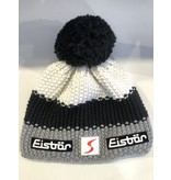 EISBAR KIDS STAR POMPON HAT - WHITE/BLACK/GREY - KIDS (2-7Y)