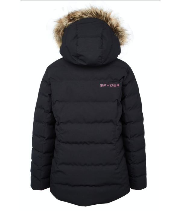 SPYDER JUNIOR GIRLS ATLAS JACKET - BLACK