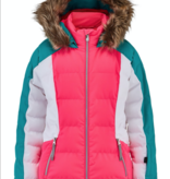 SPYDER JUNIOR GIRLS ATLAS SKI JACKET - BUBBLEGUM SCUBA -  SIZE 16 ONLY