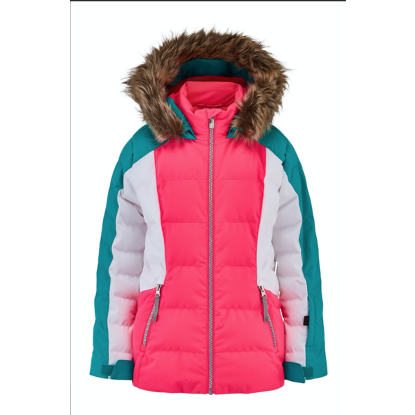JUNIOR GIRLS ATLAS SKI JACKET - BUBBLEGUM SCUBA