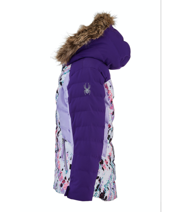 SPYDER JUNIOR GIRLS ATLAS SKI JACKET - IMPRESS PRINT