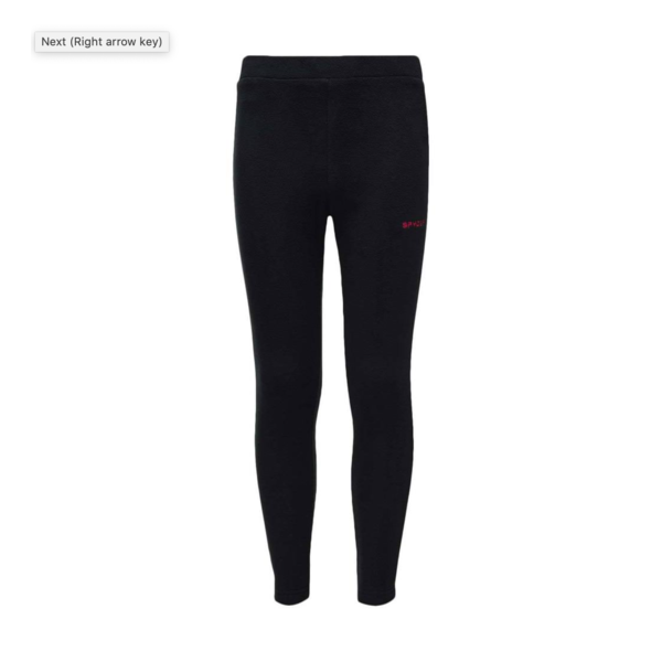 JUNIOR GIRLS SPEED FLEECE PANT - BLACK - SIZE XLARGE/18 ONLY
