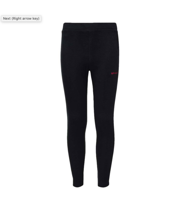 SPYDER JUNIOR GIRLS SPEED FLEECE PANT - BLACK