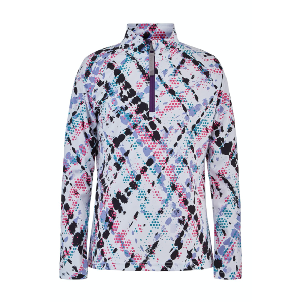 JUNIOR GIRLS SURFACE SECOND LAYER SKI TOP - IMPRESS PRINT