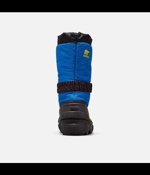 SOREL CHILDRENS FLURRY BOOT - BLACK/BLUE