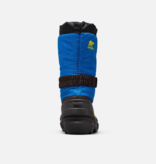 SOREL YOUTH FLURRY BOOT - BLACK/BLUE