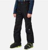 ROSSIGNOL JUNIOR BOYS FULL ZIP SKI PANT - BLACK