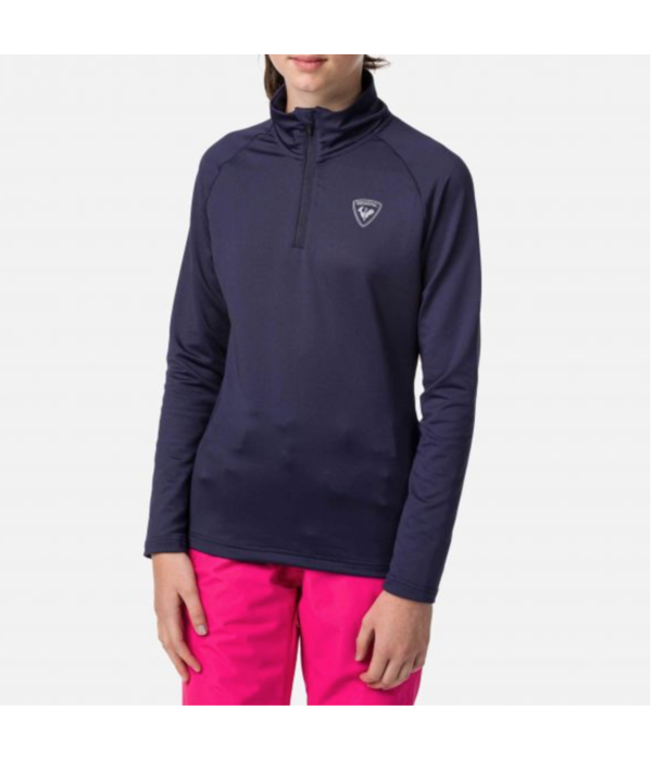 ROSSIGNOL JUNIOR UNISEX 1/2 ZIP WARM STRETCH - NOCTURNE