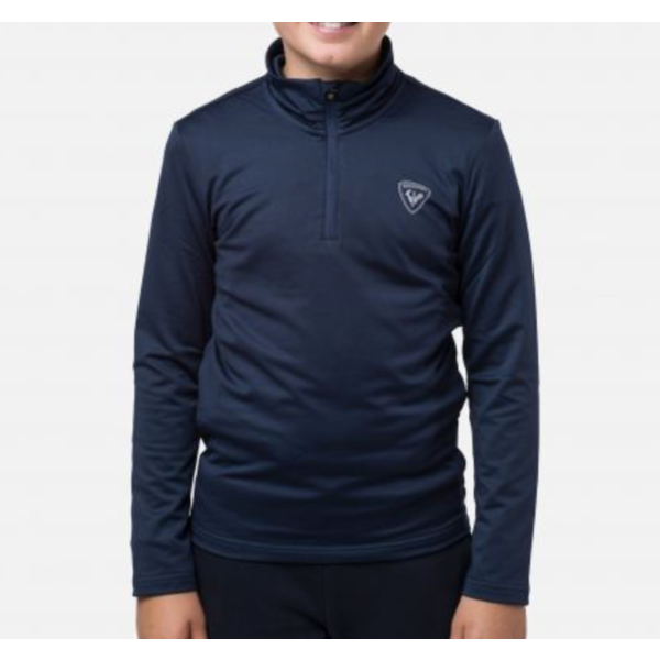 JUNIOR BOYS 1/2 ZIP WARM STRETCH - DARK NAVY - SIZE 8 ONLY