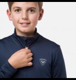 ROSSIGNOL JUNIOR BOYS 1/2 ZIP WARM STRETCH - DARK NAVY
