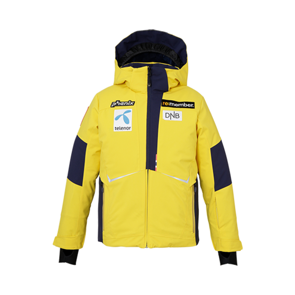 JUNIOR BOYS NORWAY ALPINE TEAM JR SKI JACKET - YELLOW TEAM