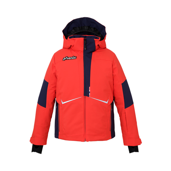 JUNIOR BOYS NORWAY ALPINE TEAM JR SKI JACKET - RED