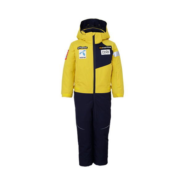 BOYS NORWAY TEAM TREASURE 1PC SNOWSUIT - YELLOW - SIZE 2-6 ONLY
