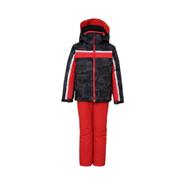 BOYS LIBRA 2PC SNOWSUIT - CAMO/RED/BLACK