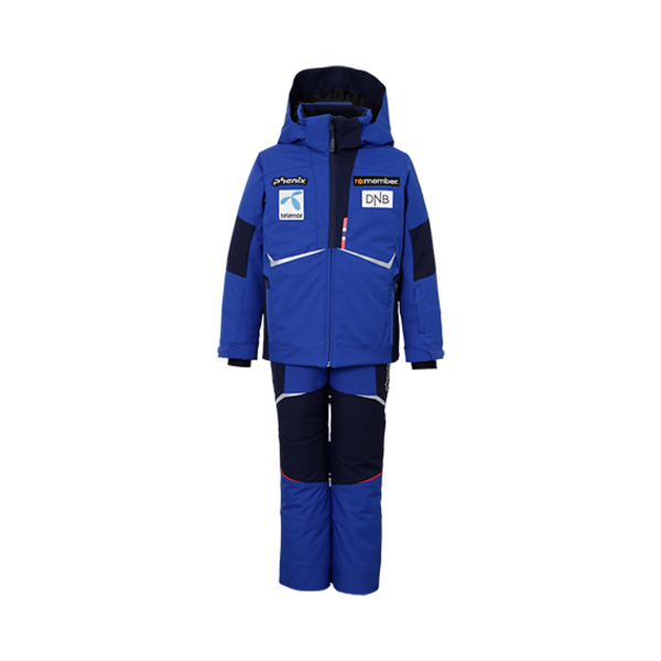 BOYS NORWAY TEAM SUKU SNOWSUIT - BLUE WITH PATCHES
