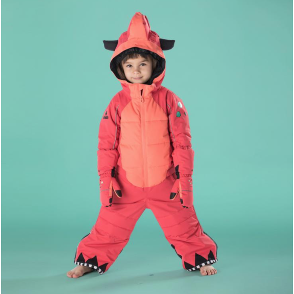 PINK DINOSAUR WINTER JUMPSUIT