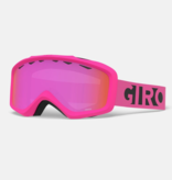 GIRO GRADE GOGGLES - PINK BLACK BLOCKS WITH AMBER PINK LENS