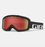 GIRO GRADE GOGGLES - BLACK WOODMARK WITH AMBER SCARLET LENS