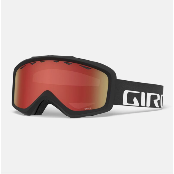 GRADE GOGGLES - BLACK WOODMARK WITH AMBER SCARLET LENS
