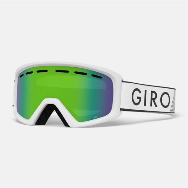 REV GOGGLES - WHITE WITH LODEN GREEN LENS