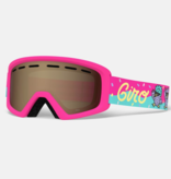 GIRO REV GOGGLES - DISCO BIRDS PINK WITH AR40 LENS