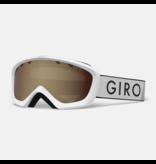 GIRO CHICO GOGGLE - WHITE ZOOM/AMBER ROSE