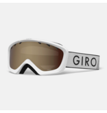 GIRO CHICO GOGGLES - WHITE ZOOM WITH AR40 LENS