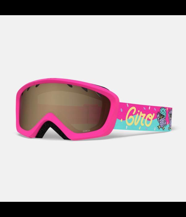 GIRO CHICO GOGGLE - DISCO BIRDS PINK/AMBER ROSE