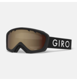 GIRO CHICO GOGGLES - BLACK ZOOM WITH AR40 LENS