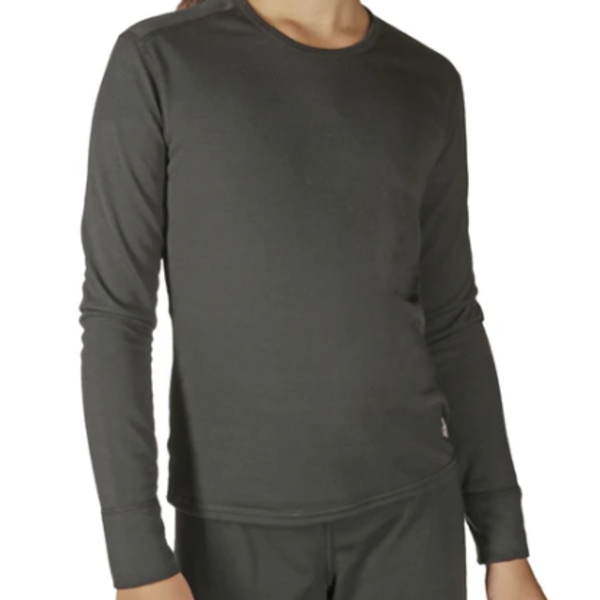 YOUTH MIDWEIGHT CREW - BLACK - XXSMALL 3/4 ONLY